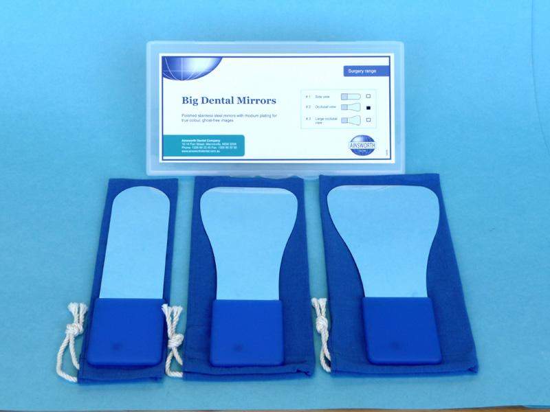 Ainsworth Big Dental Mirrors 3 Pack
