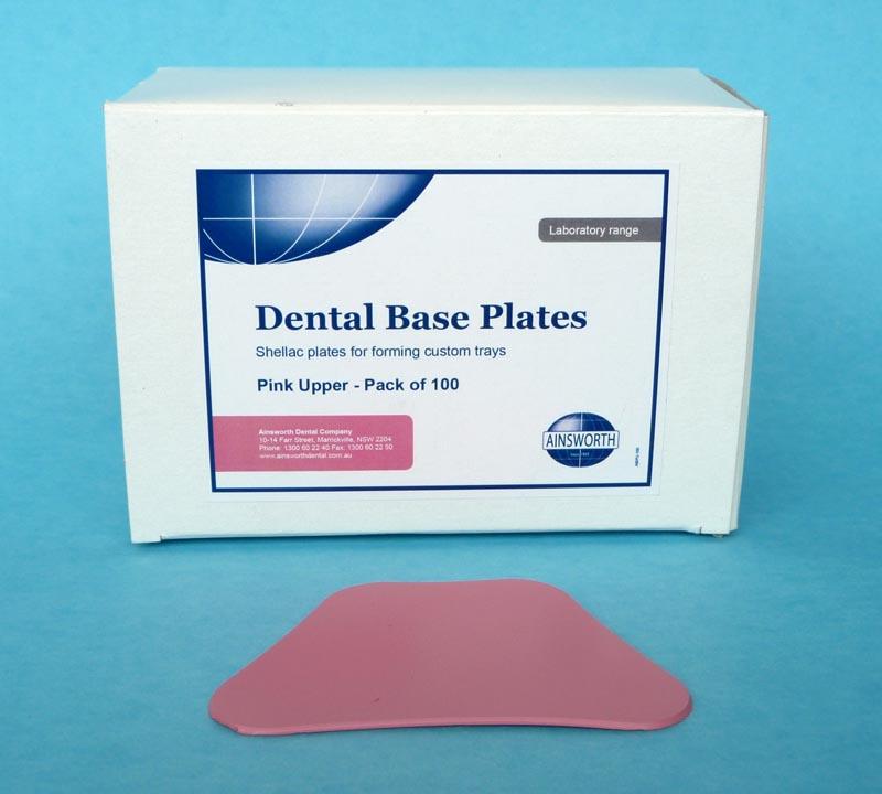 Dental Base Plates Pink Upper (Pack of 100)