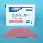 Dental Base Plates Pink Upper (Pack of 12)