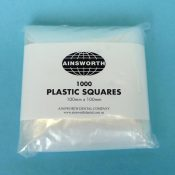 Ainsworth Plastic Squares 100mm x 100mm (Pack of 1000)