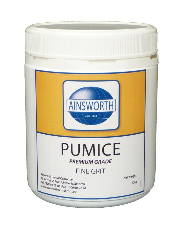 Ainsworth Pumice Fine Grit 500G Jar
