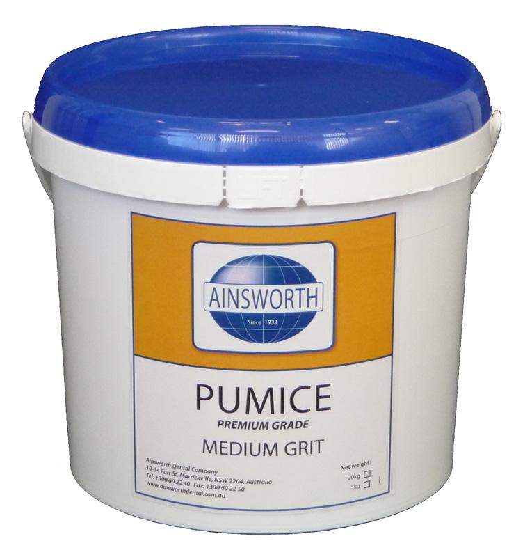 Ainsworth Pumice Medium Grit 5Kg Pail