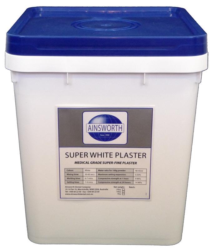 Ainsworth Super White Plaster 20kg Pail