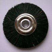 Attenborough Stiff Black Brush, Metal Centre, 47mm