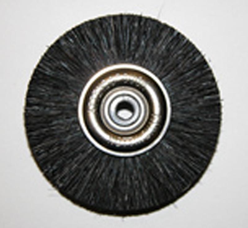 Attenborough Stiff Black Brush, Metal Centre, 47mm, P