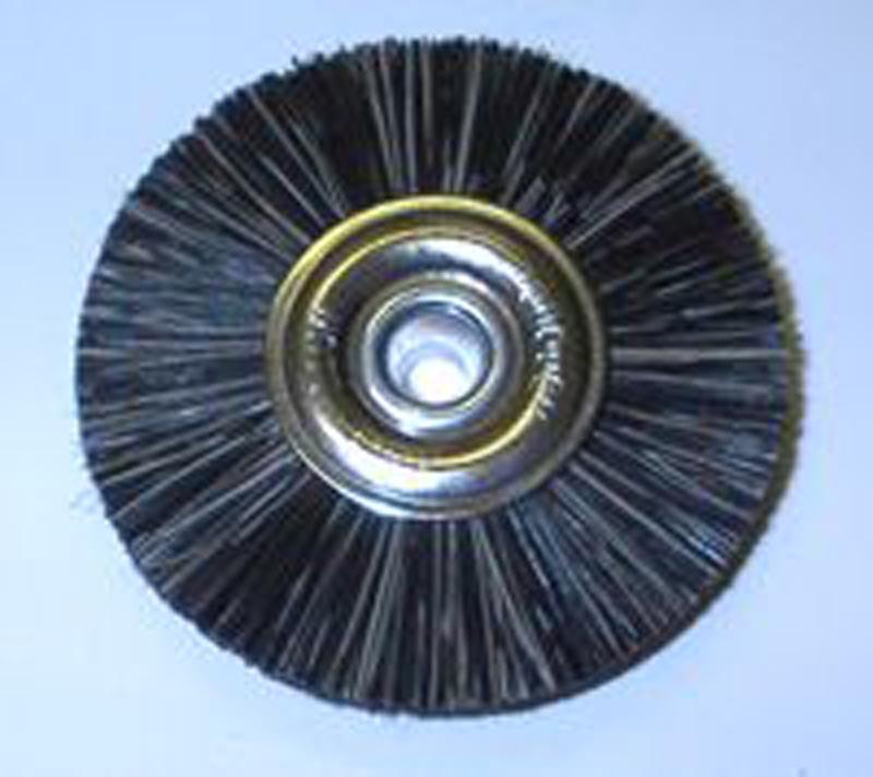 Attenborough Soft Black Brush, Metal Centre, 47mm