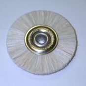 Attenborough Soft White Brush, Metal Centre, 47mm