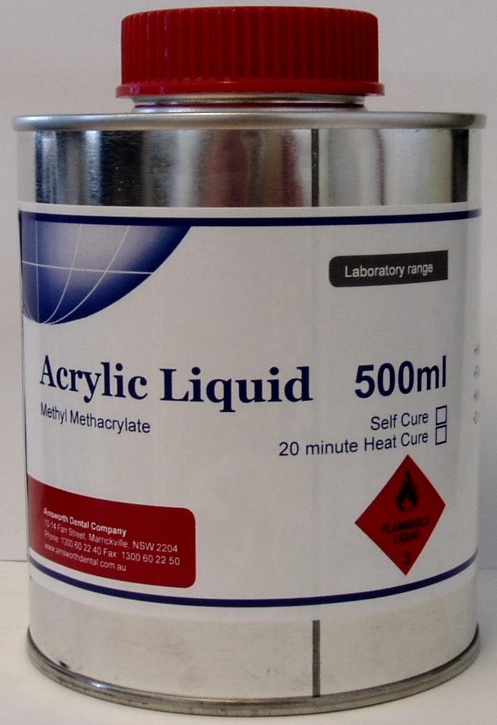 Ainsworth Self Cure Acrylic Liquid - 500ml
