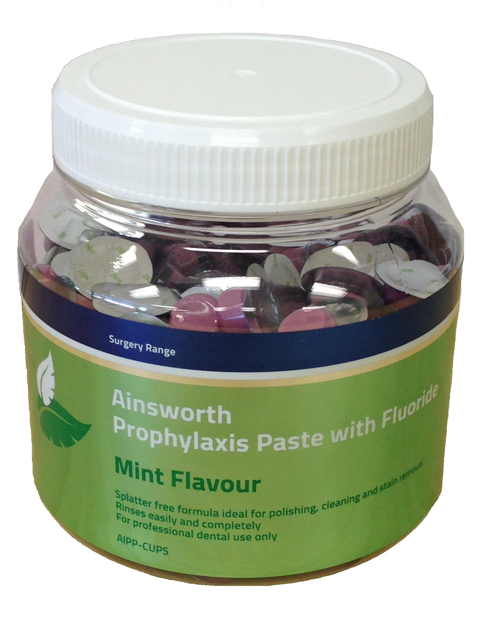 Ainsworth Individual Prophy Paste Cups with Sodium Fluoride