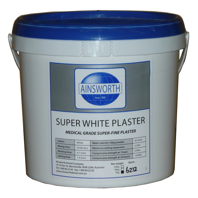 Ainsworth Super White Plaster 5kg Pail