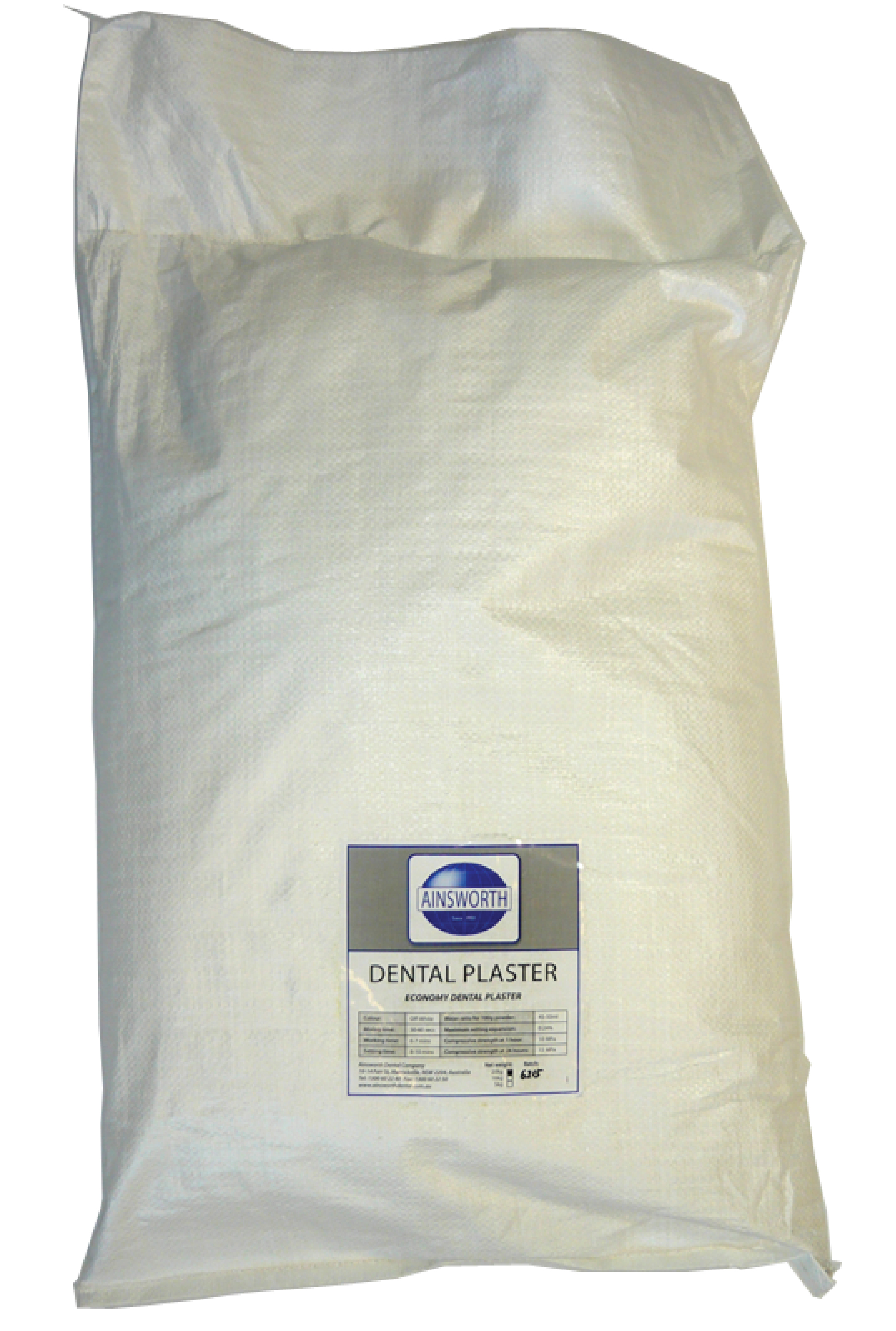 Ainsworth Dental Plaster 20Kg Bag