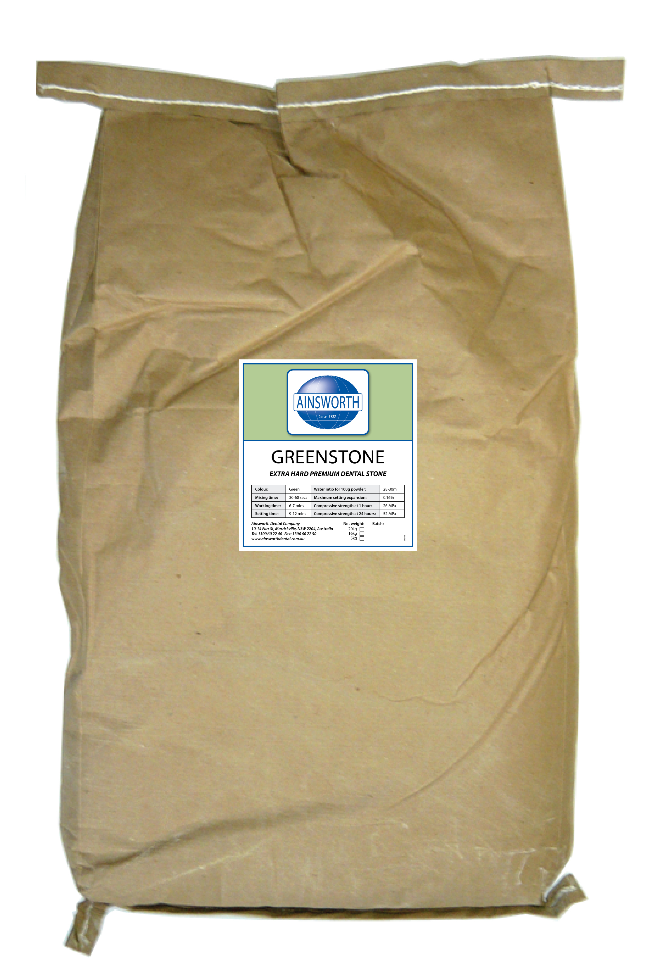 Ainsworth Greenstone 20Kg Bag