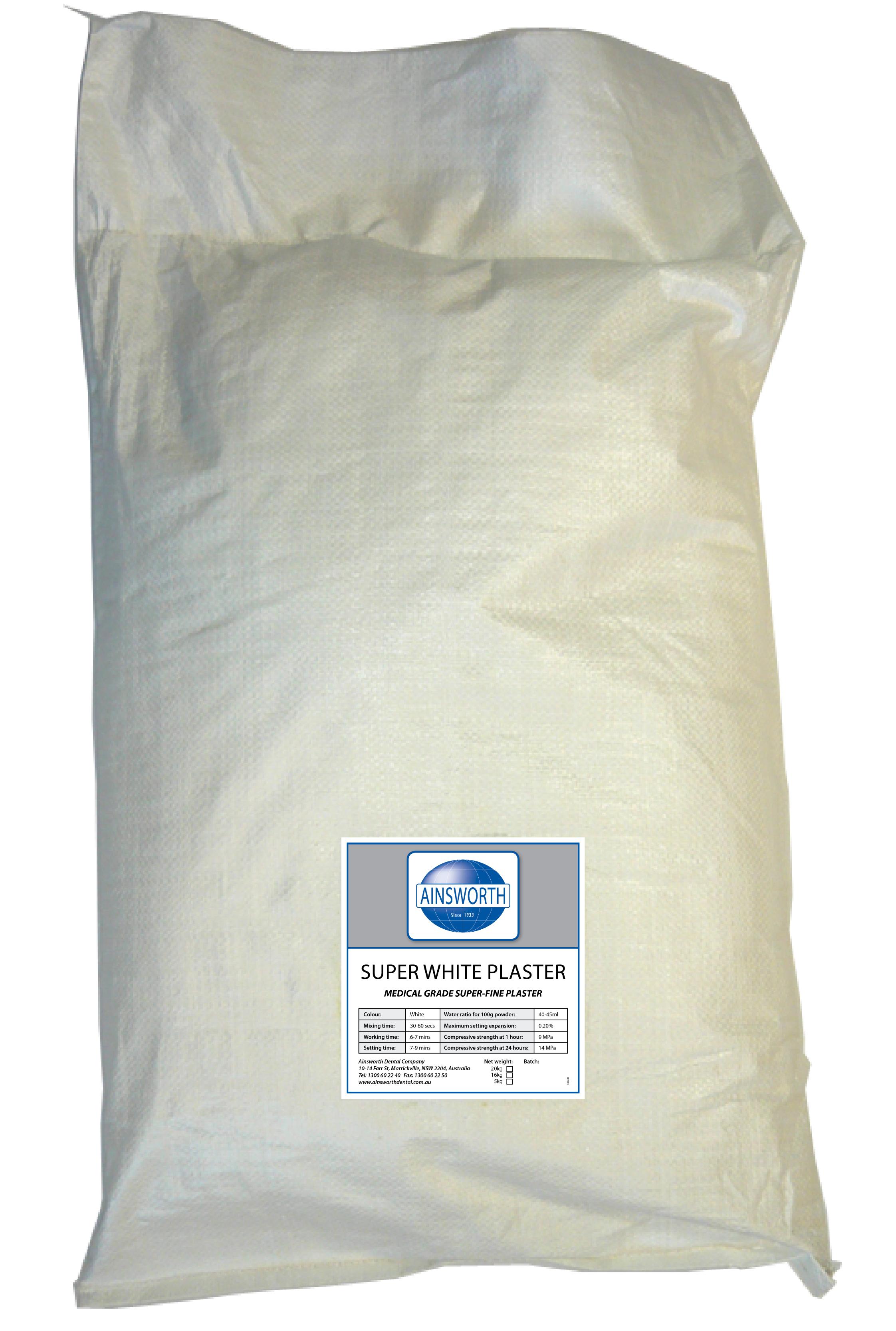 Ainsworth Super White Plaster 20kg Bag
