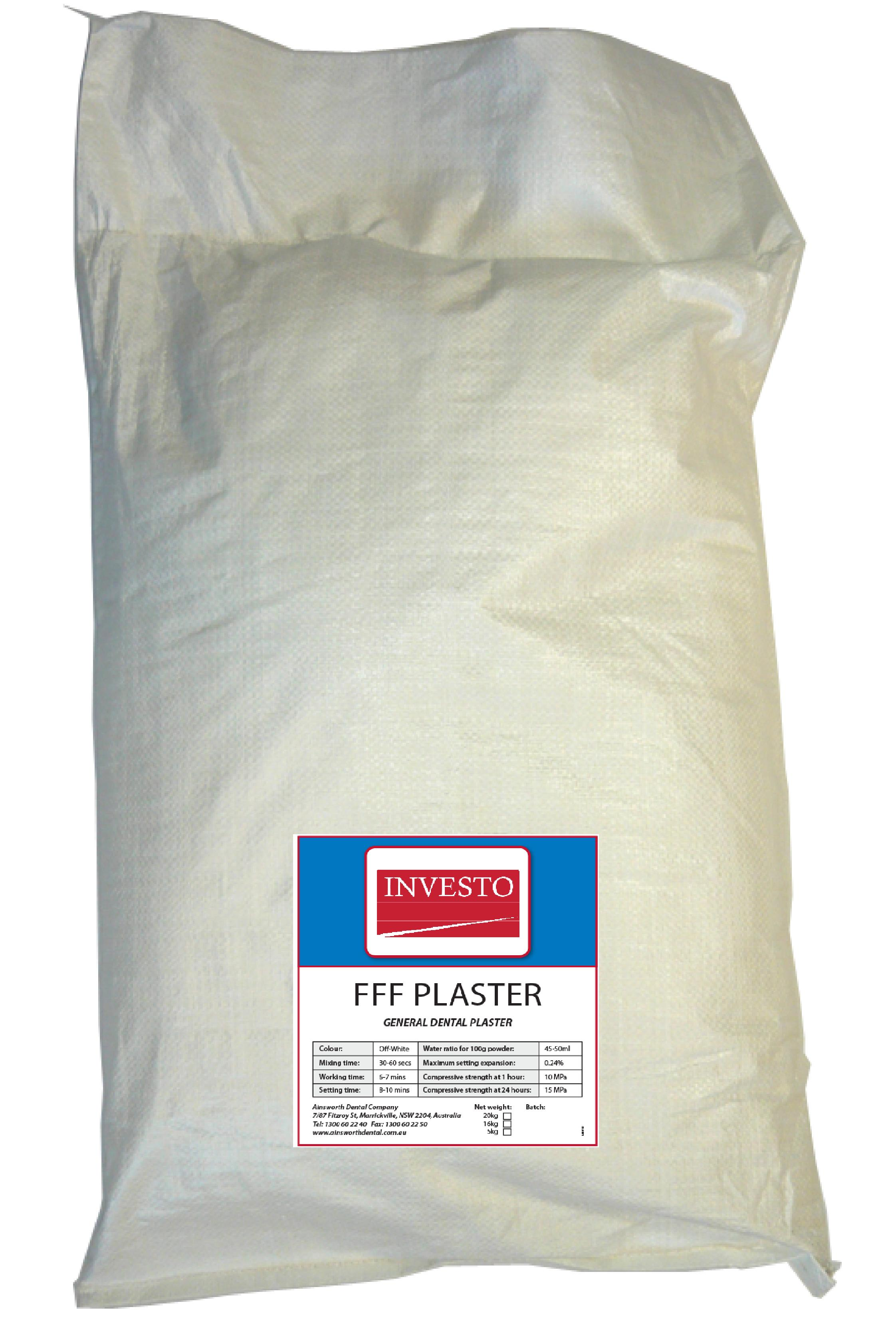 Investo FFF Plaster 20kg Bag