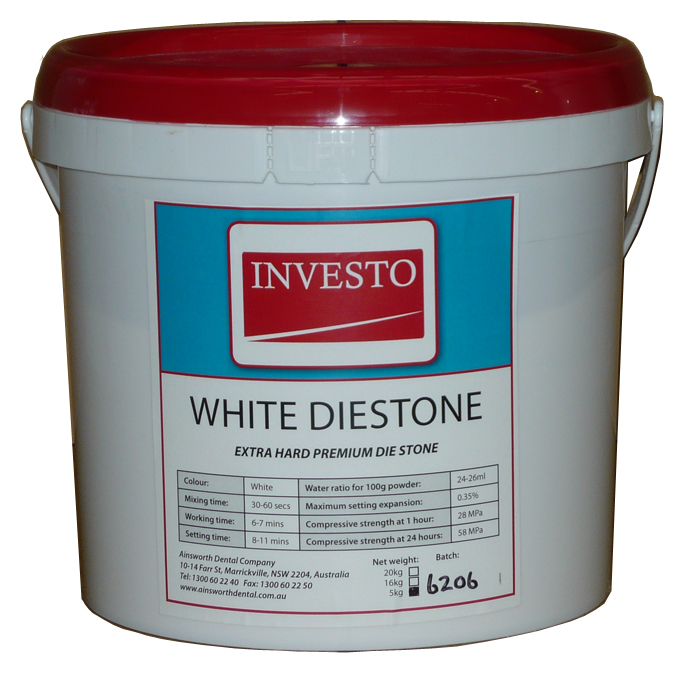 Investo White Diestone 5kg Pail