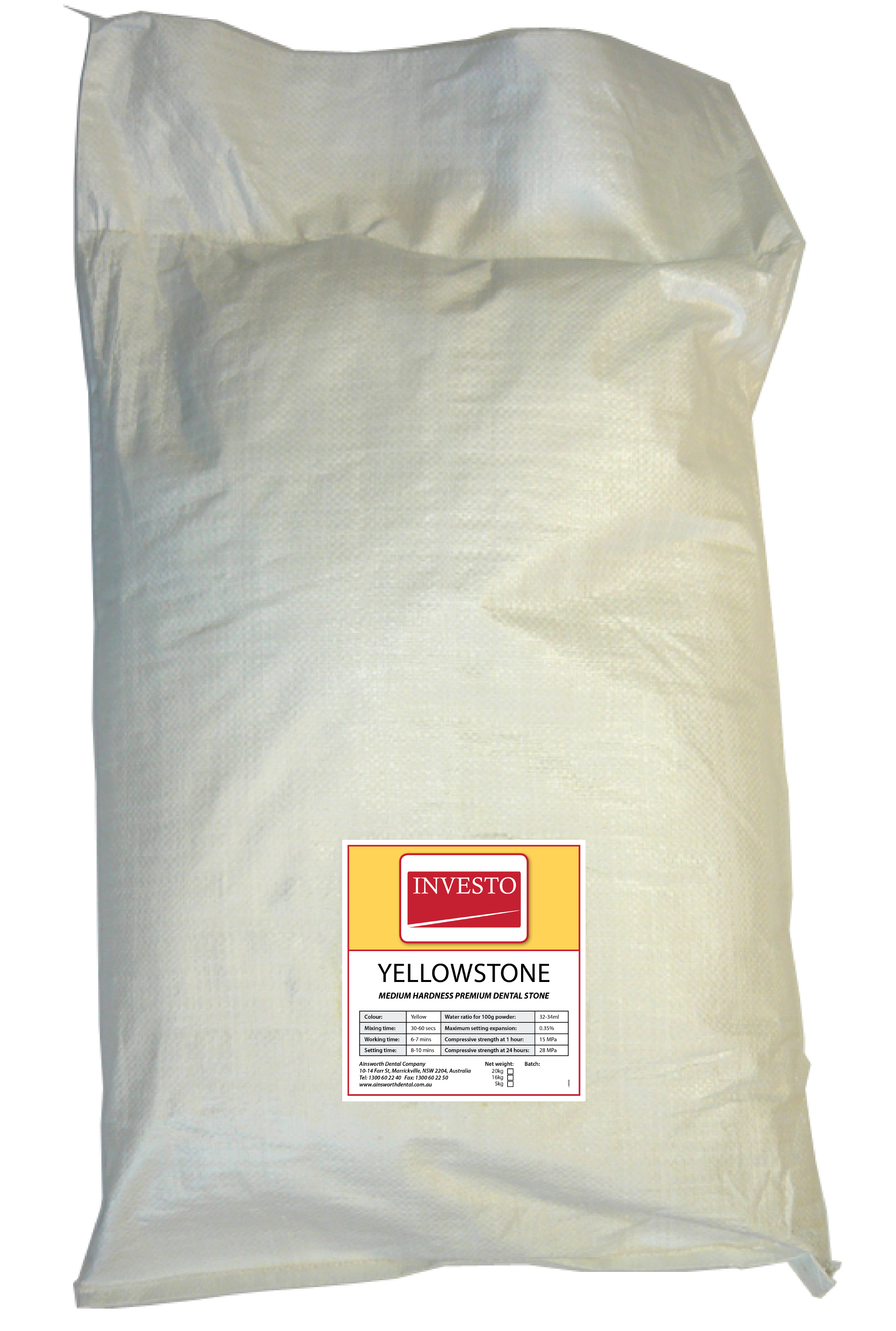 Investo Yellowstone 20kg Bag